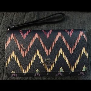 Coach Geo chevron wallet